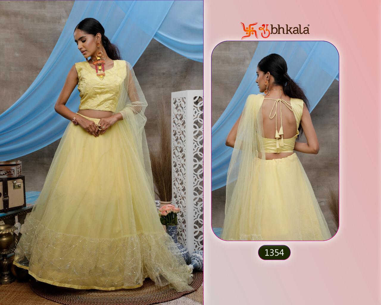 Khushboo Girly Vol 6 Designer 1351-1354 Series Soft Organza Net Lehenga Choli With Dupatta