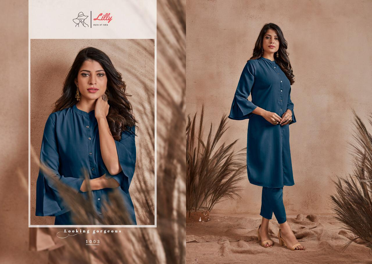 Lily Style Carnival Series 1001-1004 Fancy With Streat Buttons Formal Kurti