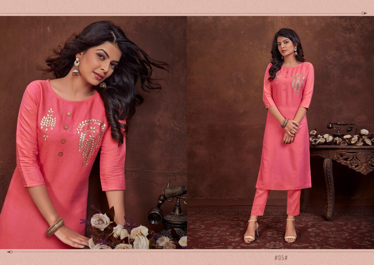 Lilly Style Of India Launch Raji Vol 1 Latest Rayon Gota Patti Creative Kurti Catalogs At Lowest Rate