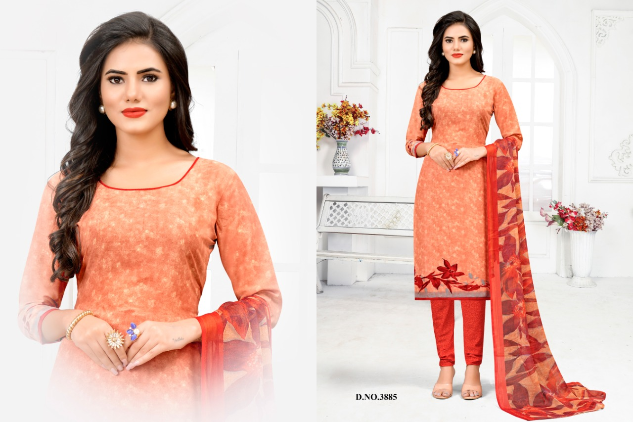 Vishnu Pearl Rayon Print Daily Wear Girls Collections Dress Materials At Lowest Rate