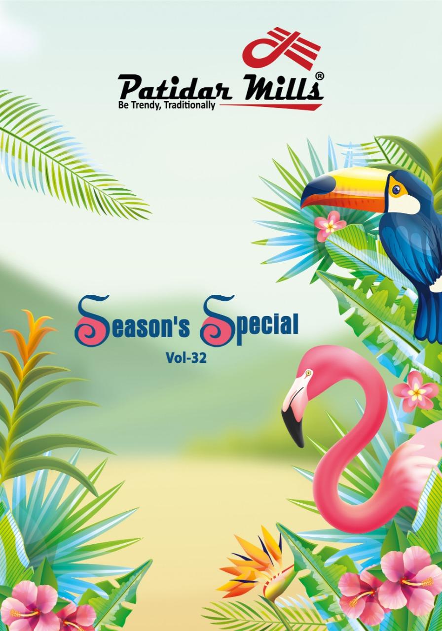 Patidar Seasons Special Vol 32 Series 32001-32016 Pure Cotton Suit