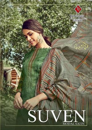 Tanishk Fashion Suven Series 15701-15708 Modal Satin Printed Suit