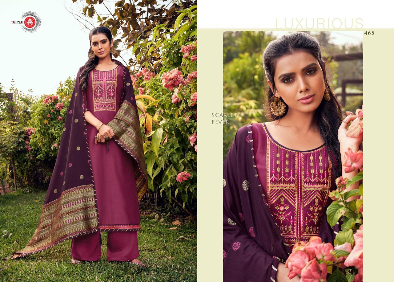 Triple Aaa Launch Kashmiri Parampara Silk With Embroidery Work Exclusive Salwar Kameez In Surat