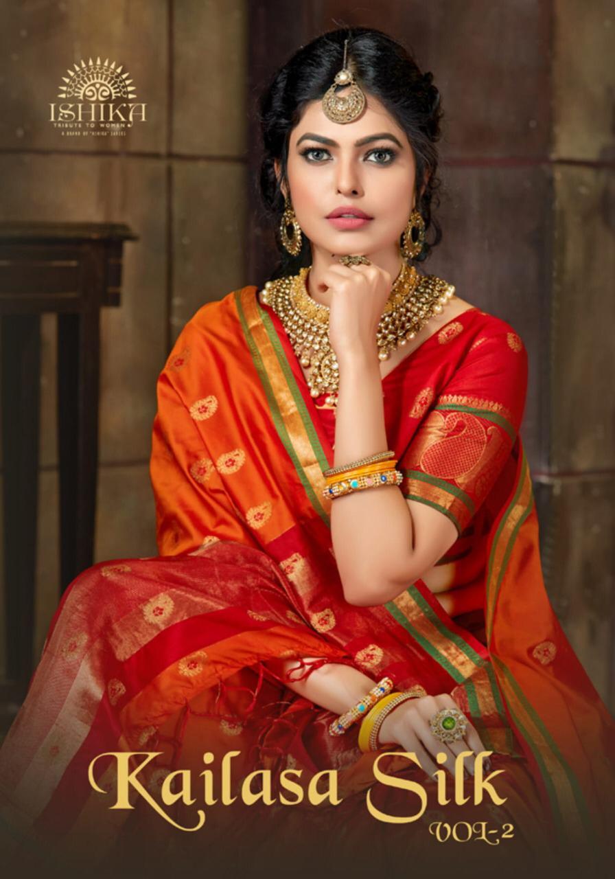 Ishika Kailasa Silk Vol 2 Series 1161-1168 Silk Traditional Wear Saree