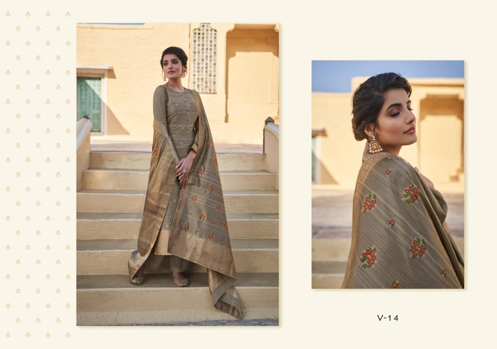 Varsha Fashion Victoria Series 11-14 Tussar Silk Woven Elegant Look Suits