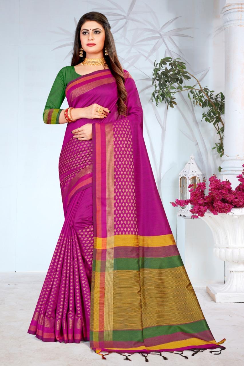 Ishika Saree Mukta Silk Indian Traditional Wear Fancy Silk Saree Catalogs Seller