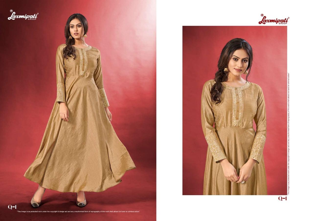 Laxmipati Group Vidhya Long Heavy Look Functional Wear Cotton Kurti Catalogs