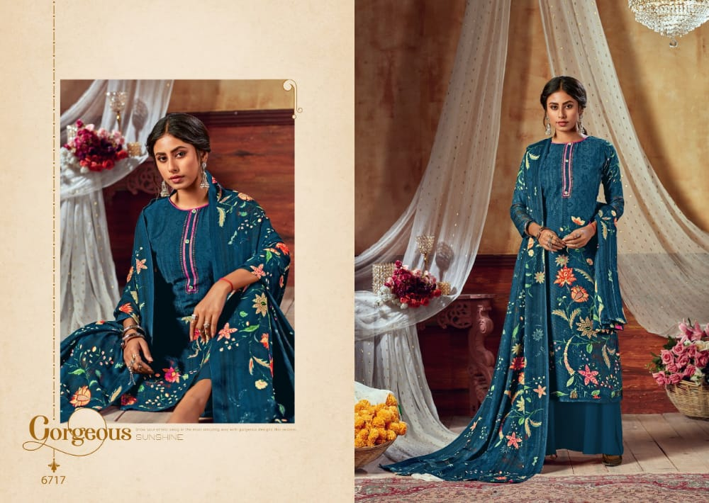 Levisha Kohinoor Vol 2 Series 6713-6722 Satin Cotton Dress Materials