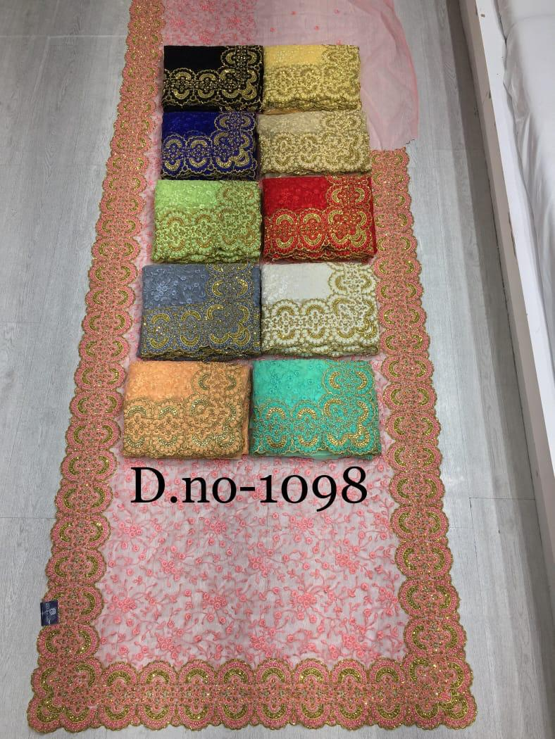 Mother Land Superhit Collections Heavy Net Embroidery Saree