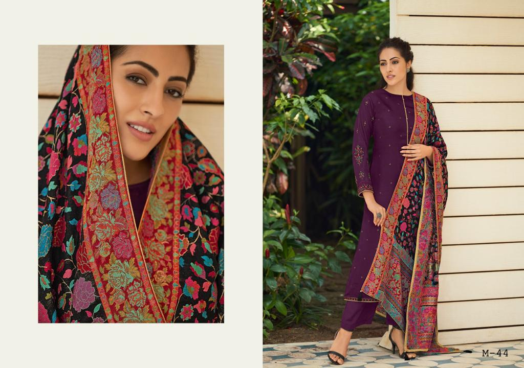 Varsha Fashion Miza Tussar Silk With Embroidery Traditional Look Indial Salwar Suits Trader