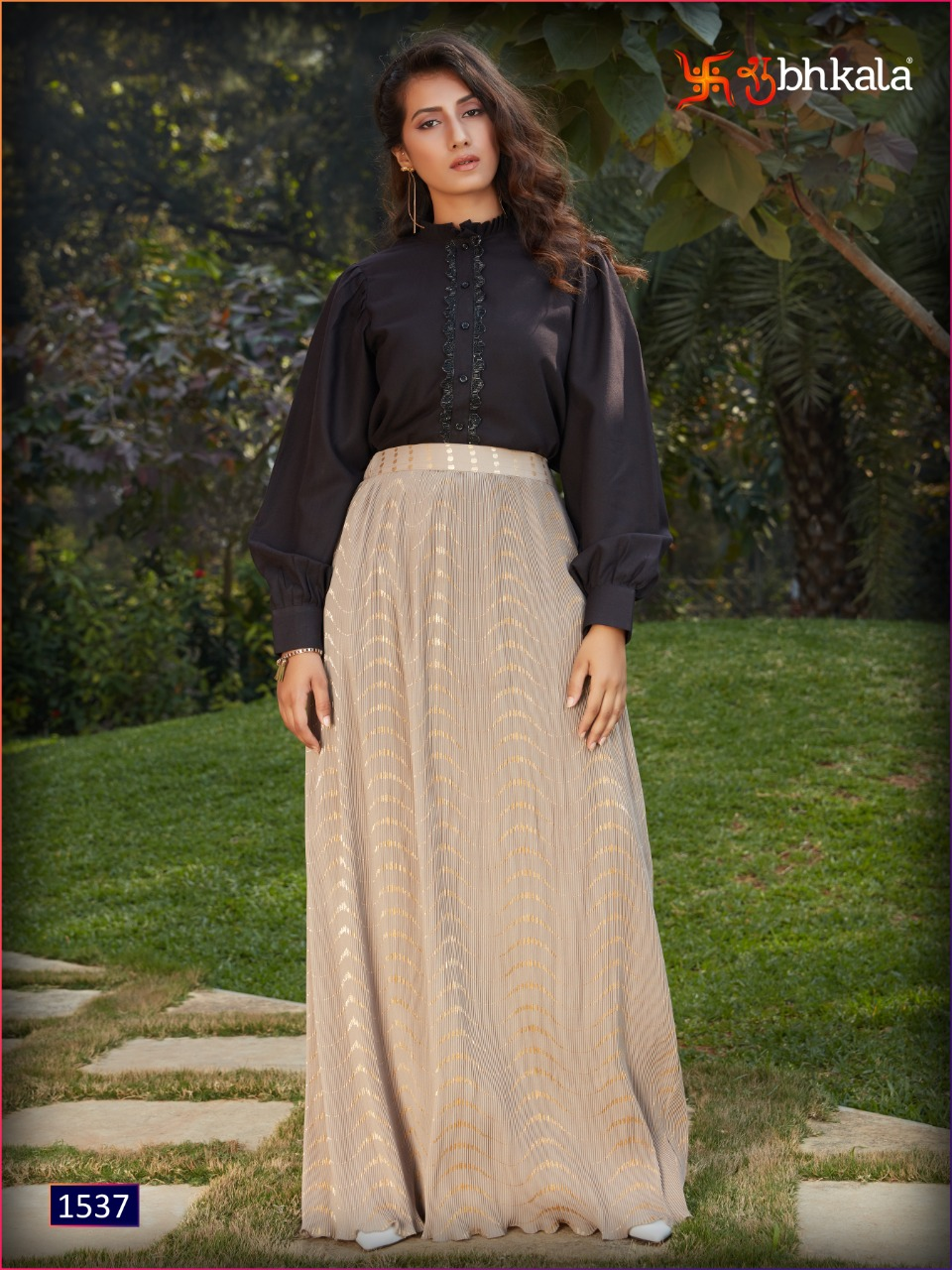 Shubhkala Frill And Flare Vol 2 Designer Imported Crop Top