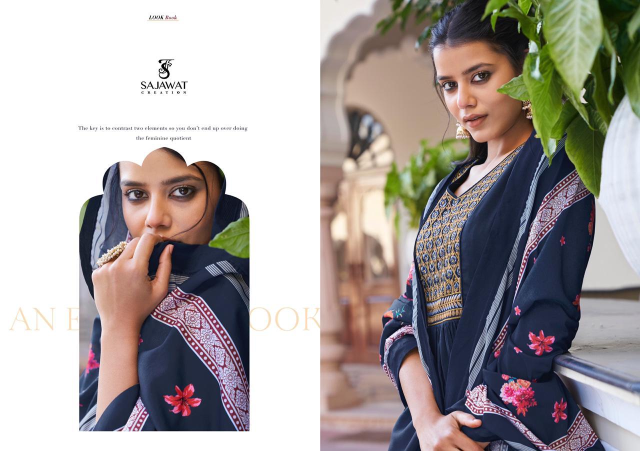 Sajawat Creation Prisha Vol-2 Designer Heavy Maslin Suit