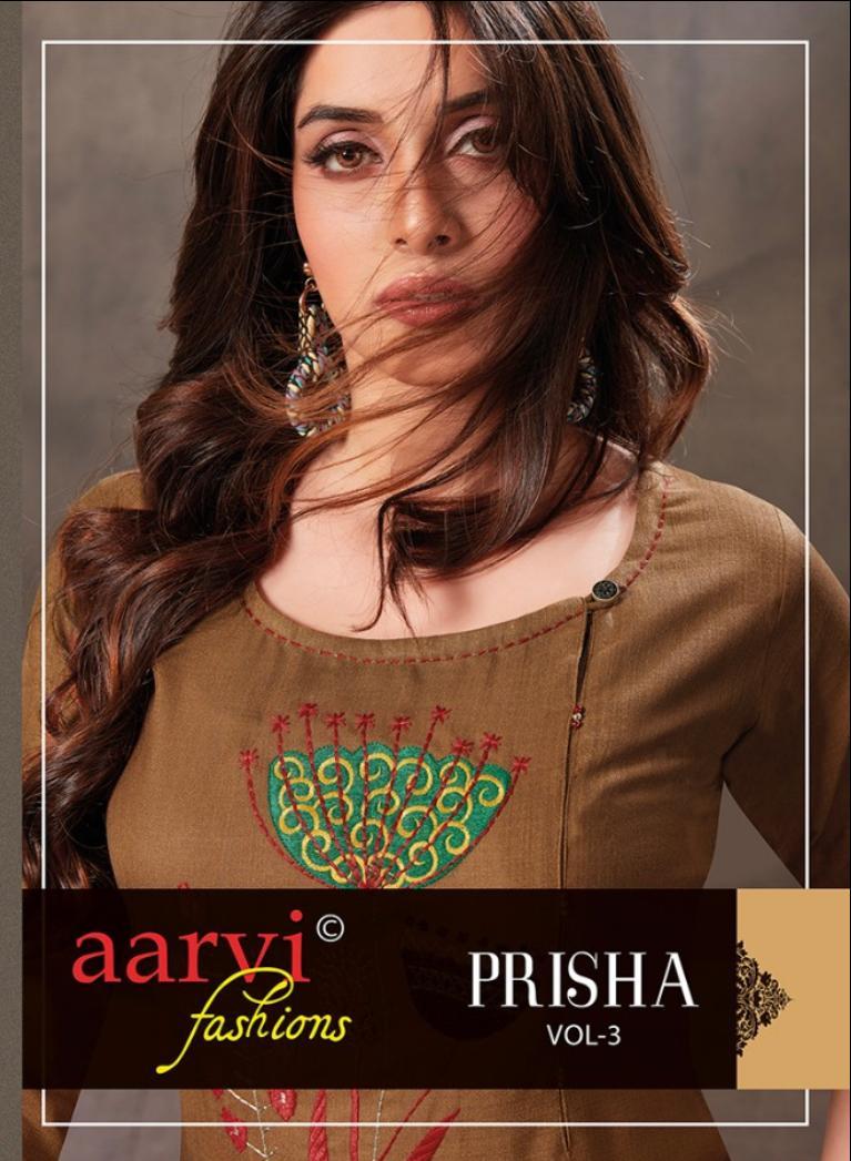 Aarvi Prisha Vol 3 Ruby Silk Cotton Readymade Kurti