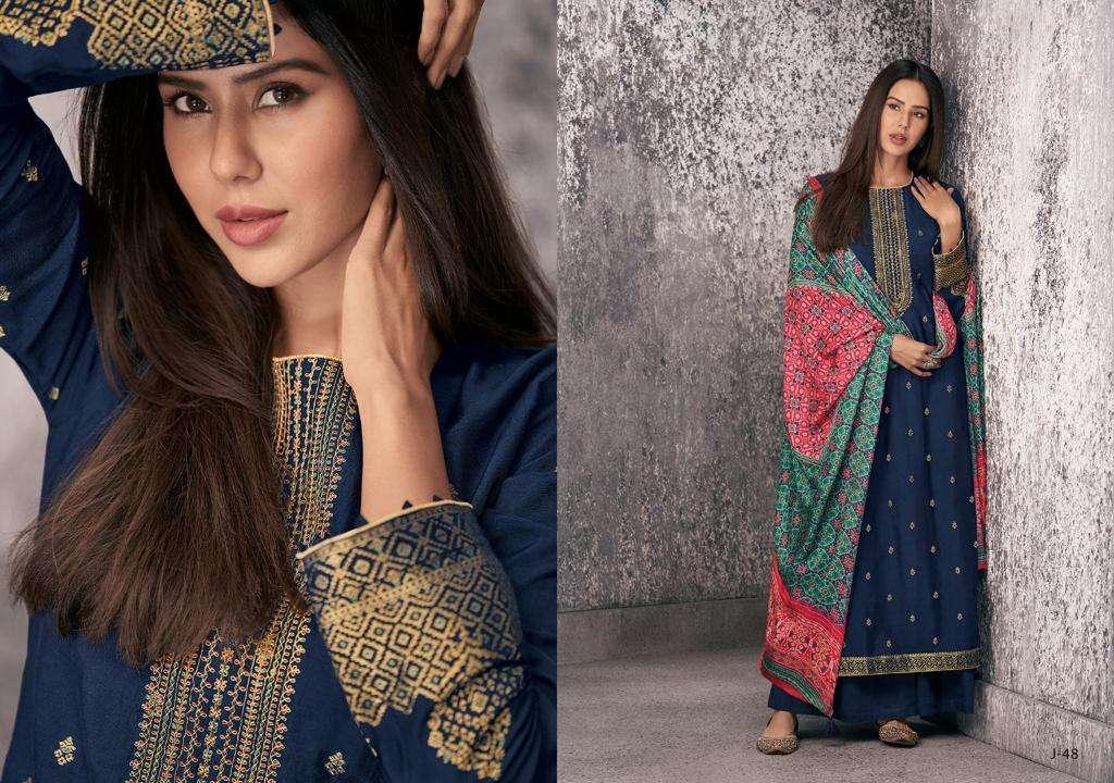 Varsha Present Jashn Pure Meenakari Woven Embroidery Party Wear Salwar Suit