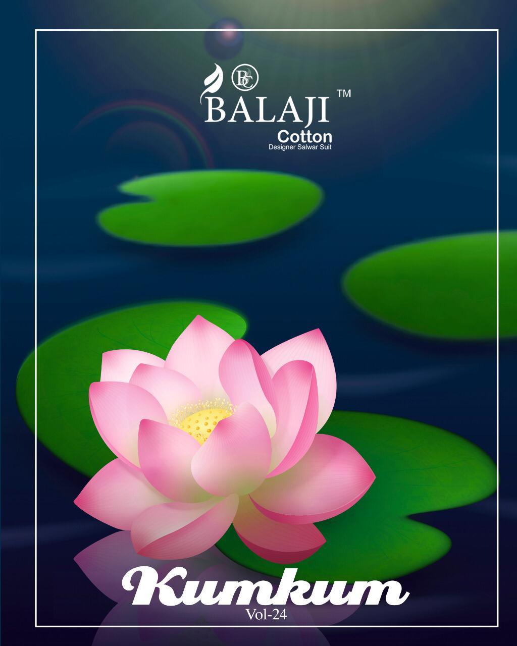 Balaji Kumkum Vol 24 Pure Cotton Suit