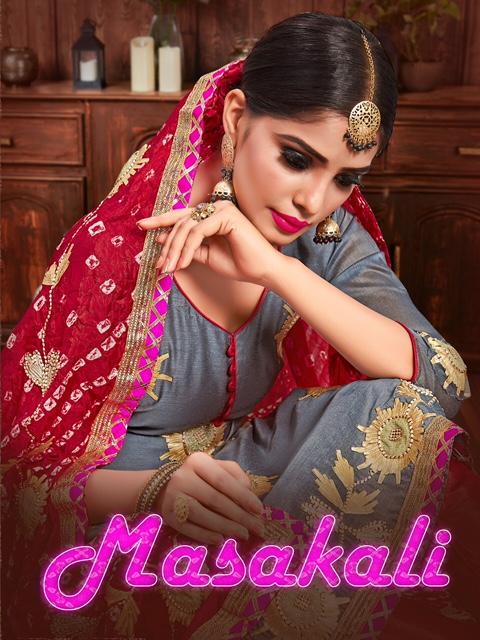 Gf Masakali Embroidered Designer Silk Suit