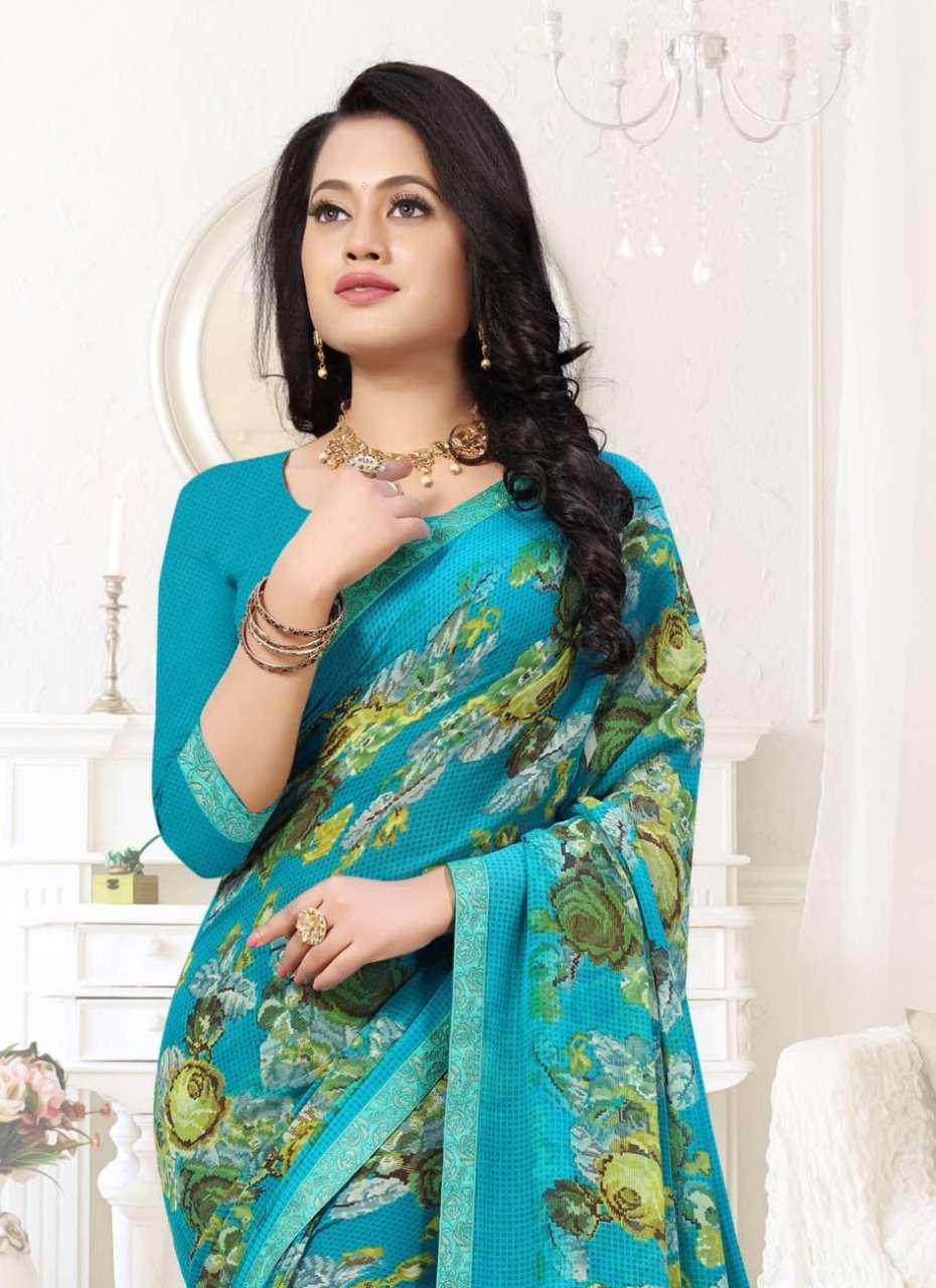 Ishika Megha Georgette Printed Formal Wear Saree Wholesale Price