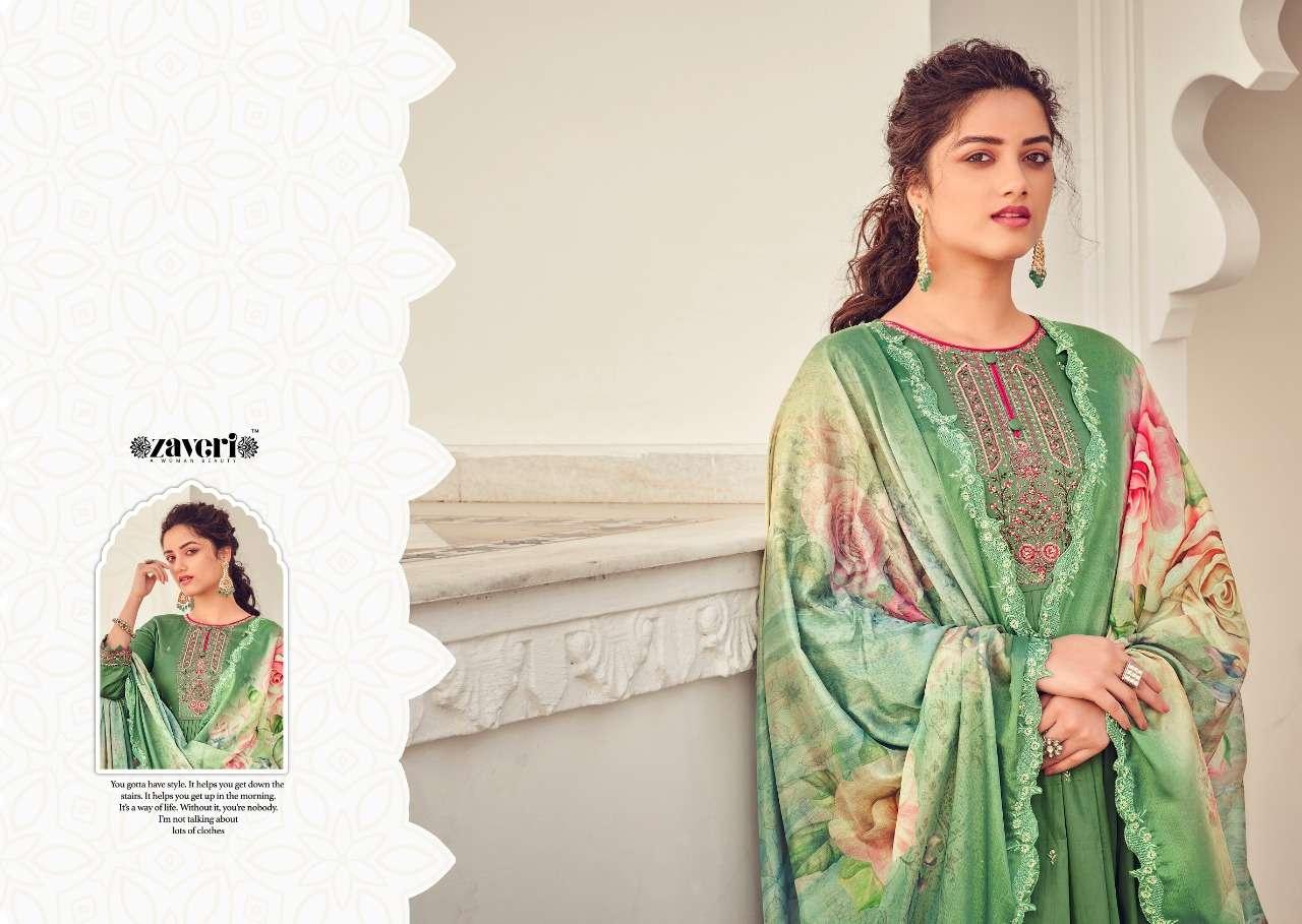 Zaveri Falguni Series 125-130 Jam Cotton Embroidery Suits