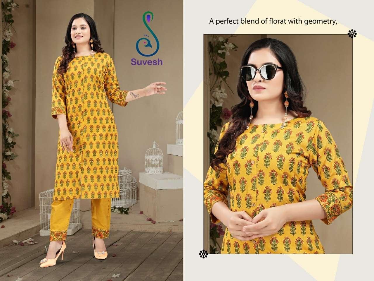 Suvesh Tanisha Cotton Flex Kurti With Pant Supplier