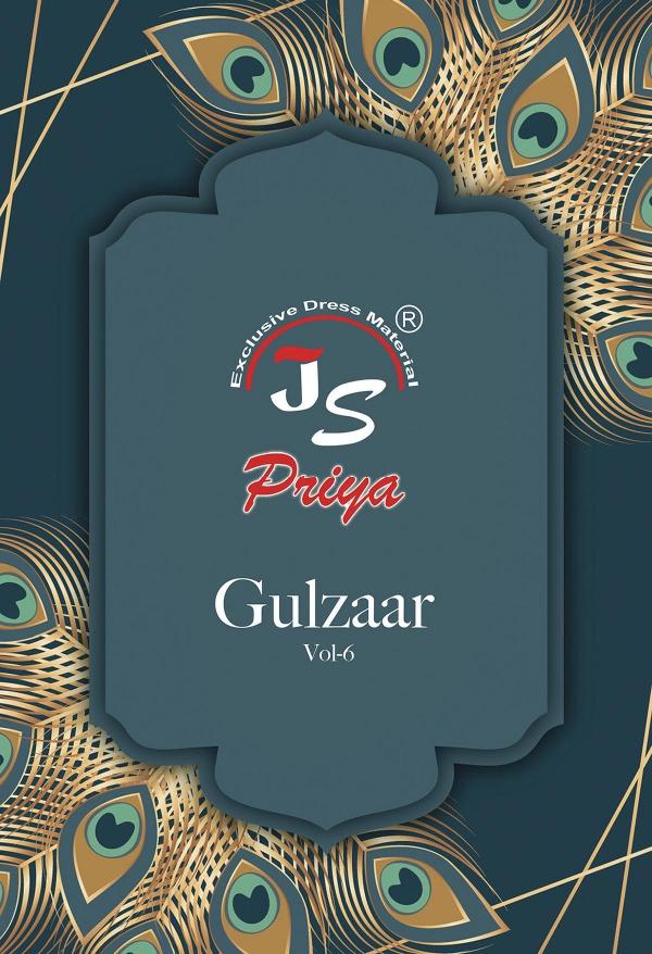 Js Priya Gulzaar Vol 6 Printed Pure Cotton Suit
