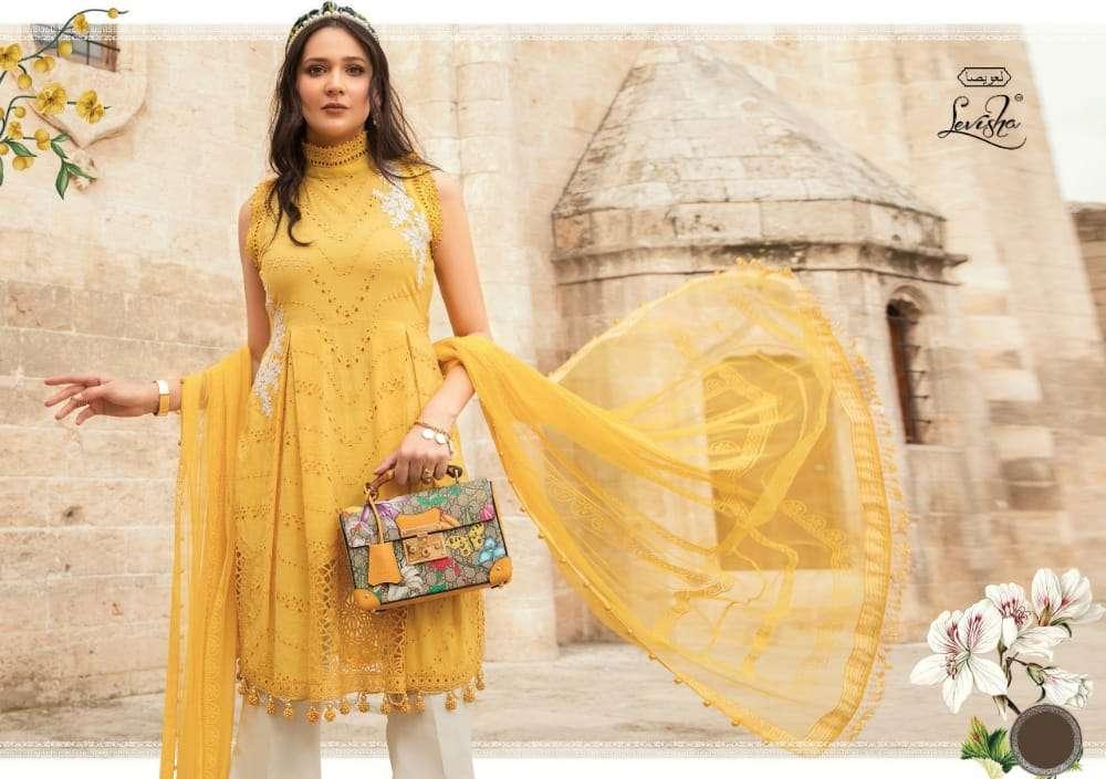 Levisha Maria B Lawn Designer Pakistani Lawn Dress Materials