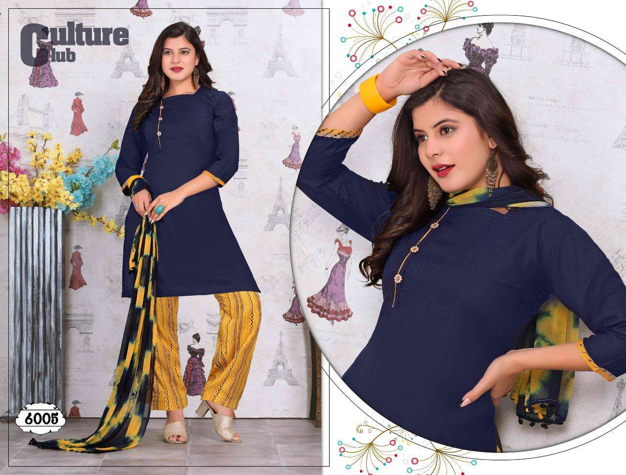 Trendy Excelletn Vol-1 Series 6001-6006 Heavy Rayon Readymade Suit