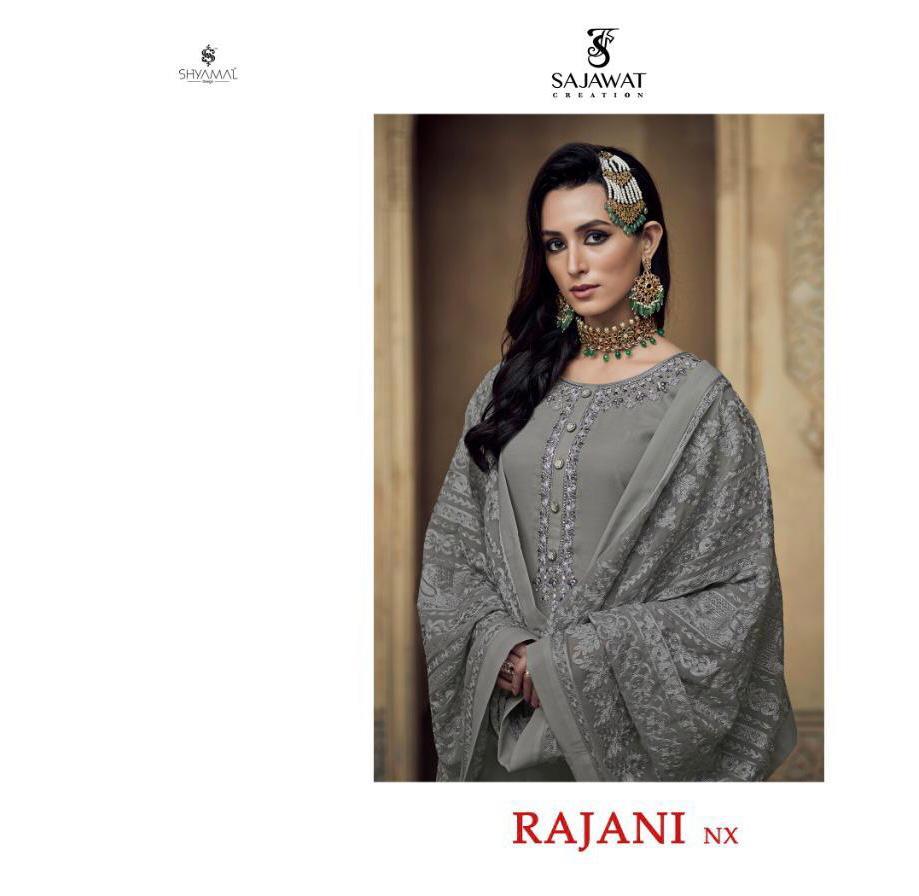 Sajawat Creation Rajani-1 Nx Designer Faux Georgette Suit