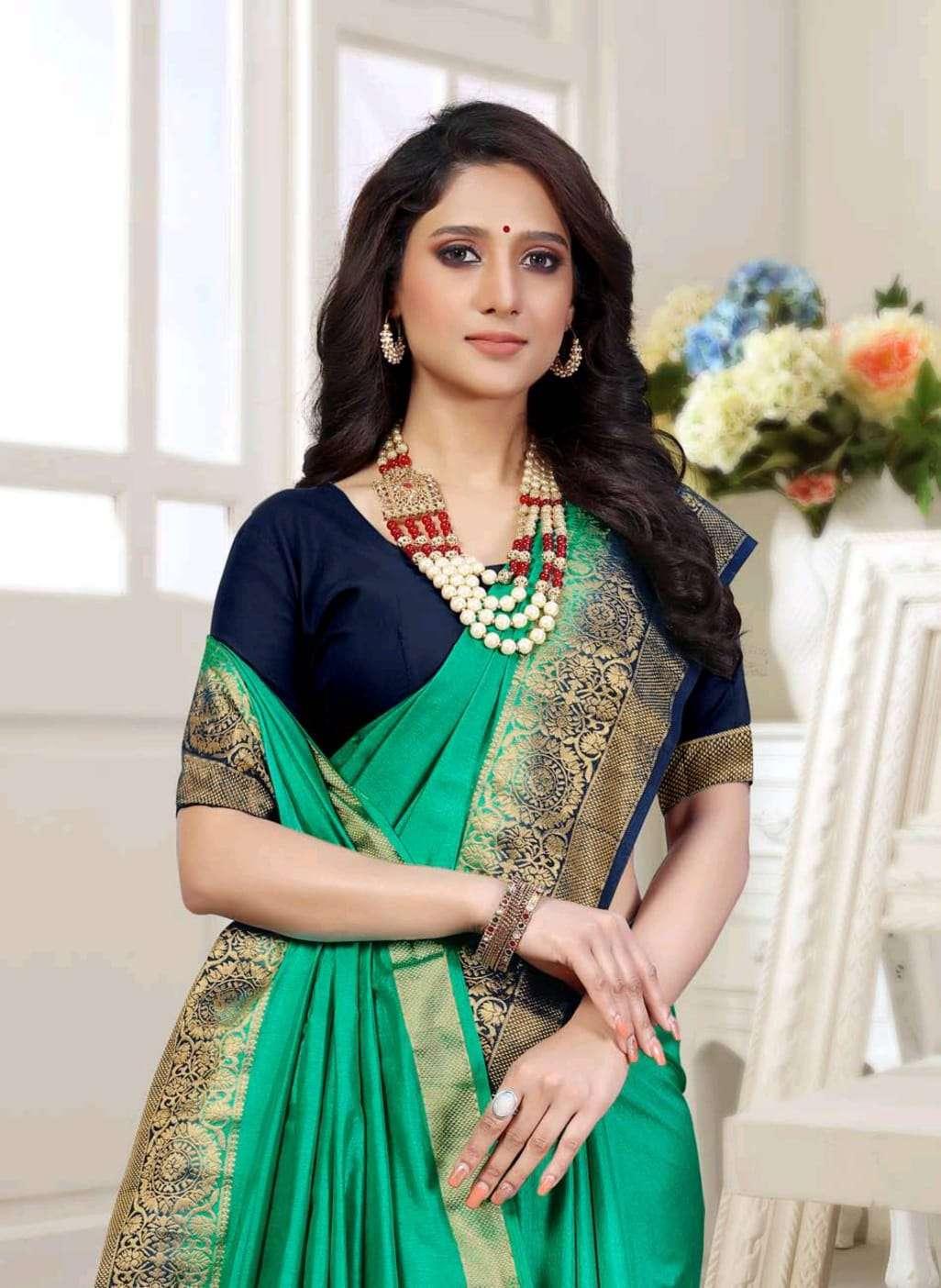 Ishika Saree Mala 2d Soft Silk With Zari Border Saree Exporter