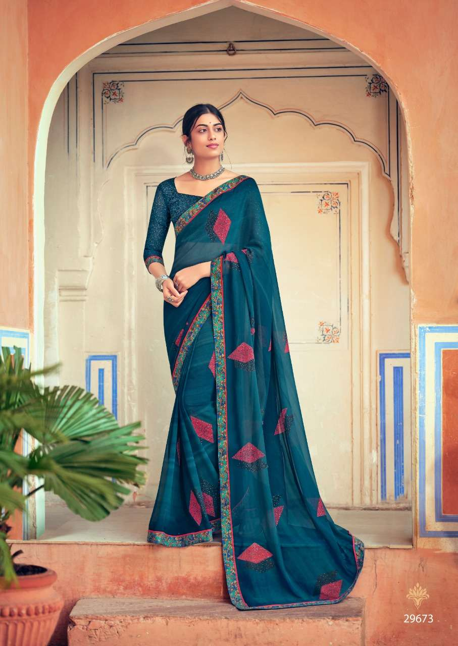 Vallabhi Sakshi Weightless Foil Printed Casual Wear Saree