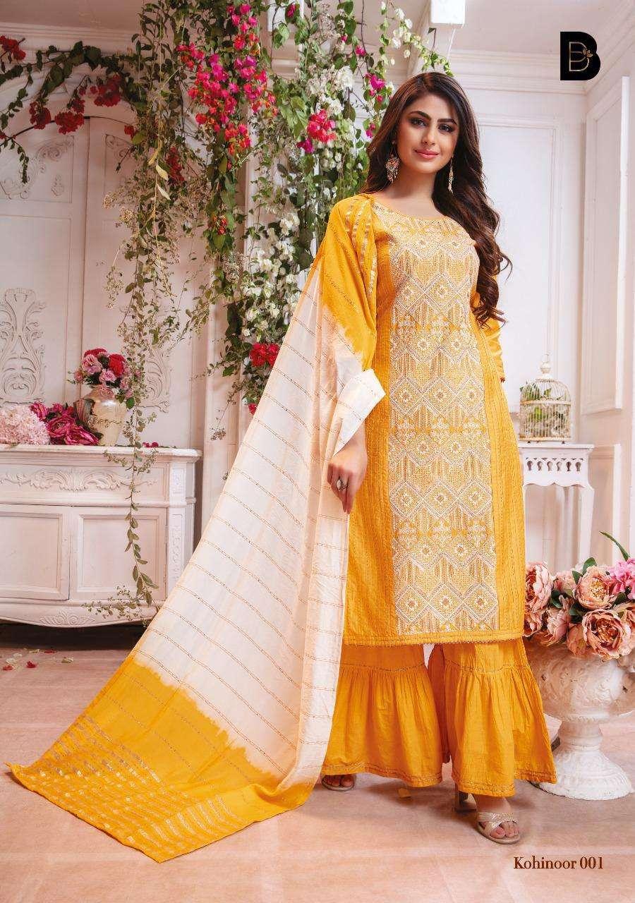 Benbaa Present Kohinoor Chanderi Cotton Readymade Salwar Kameez