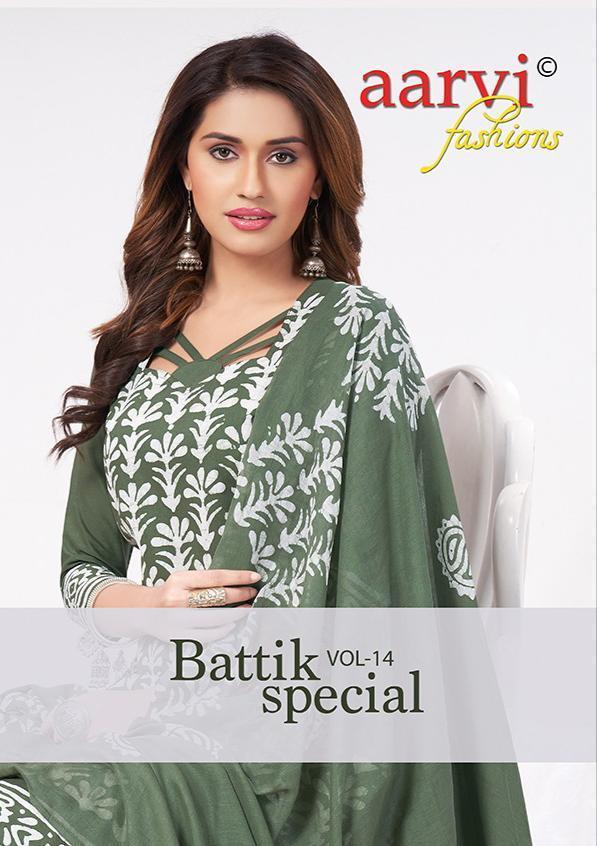 Aarvi Battik Special Vol-14 Pure Hand Wax Batik Suit