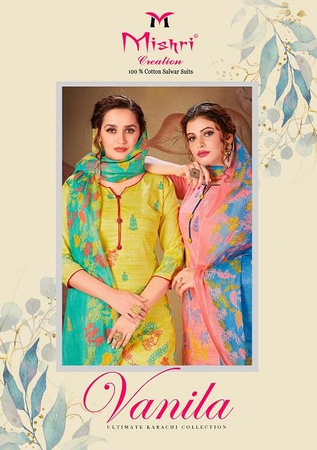 Mishri Creation Vanila Pure Cotton Suit