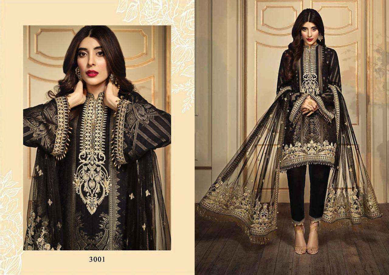 Fairlady Noor Series 3001-3004 Jam Satin Pakistani Dresses