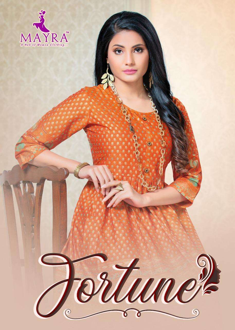 Mayra Fortune Series 7101-7108 Heavy Rayon Two Tone Kurti