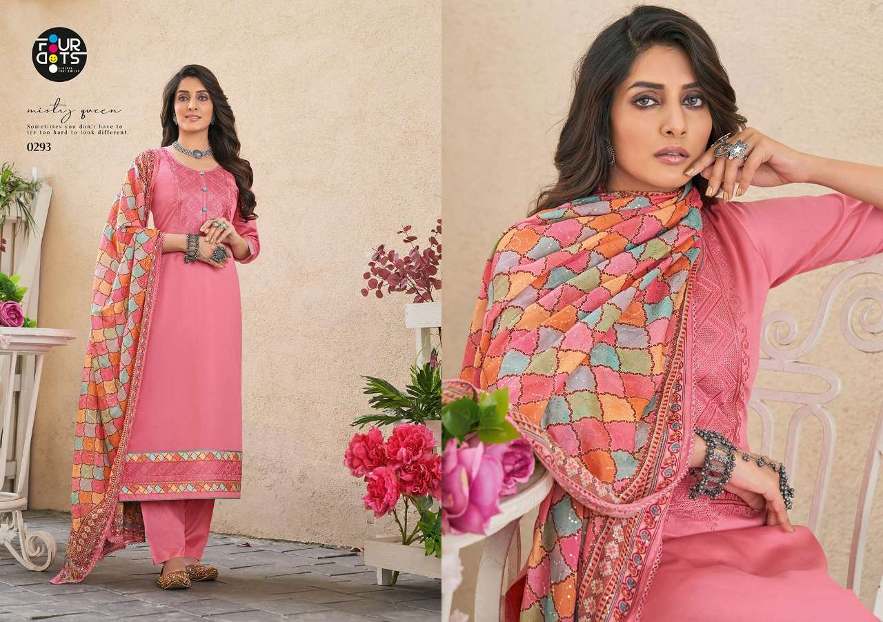 Fourdots Simran Vol-2 Series 0291-0294 Jam Silk Cotton Suit