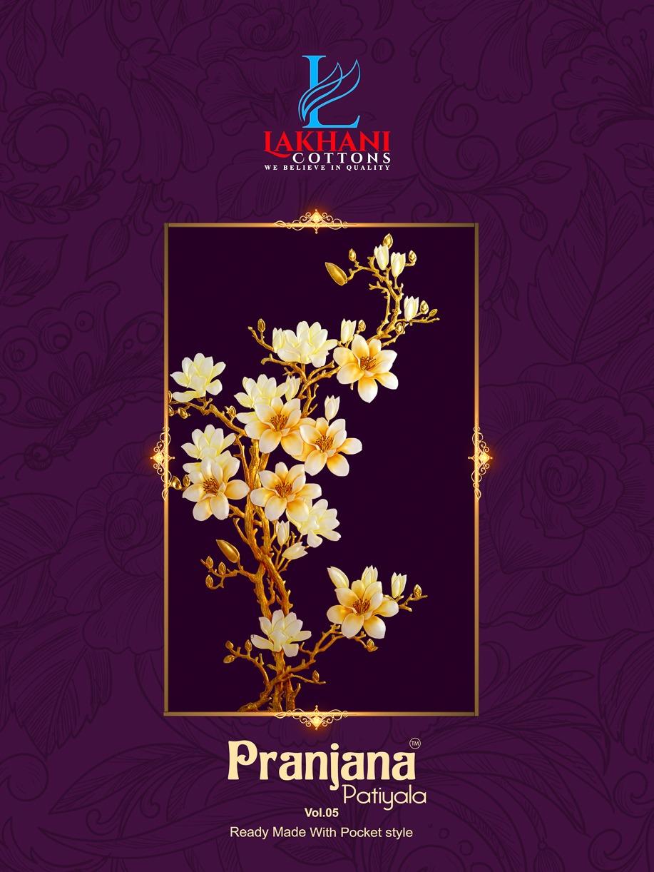 Lakhani Pranjana Patiyala Vol-5 Series 5001-5012 Pure Cotton Suit