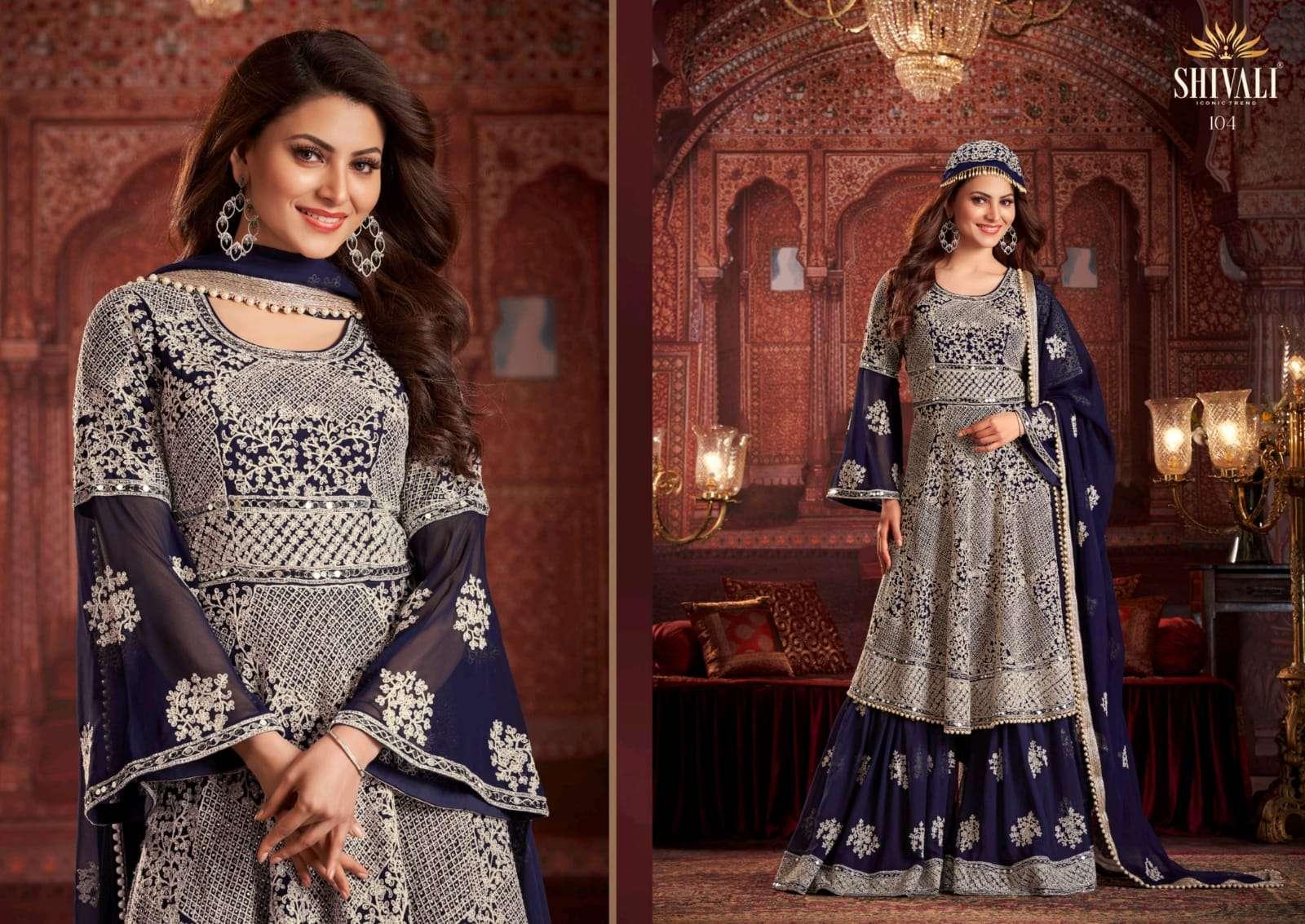 Shivali Halime Sultan Series 101-105 Heavy Work Garara Suits Eid Special