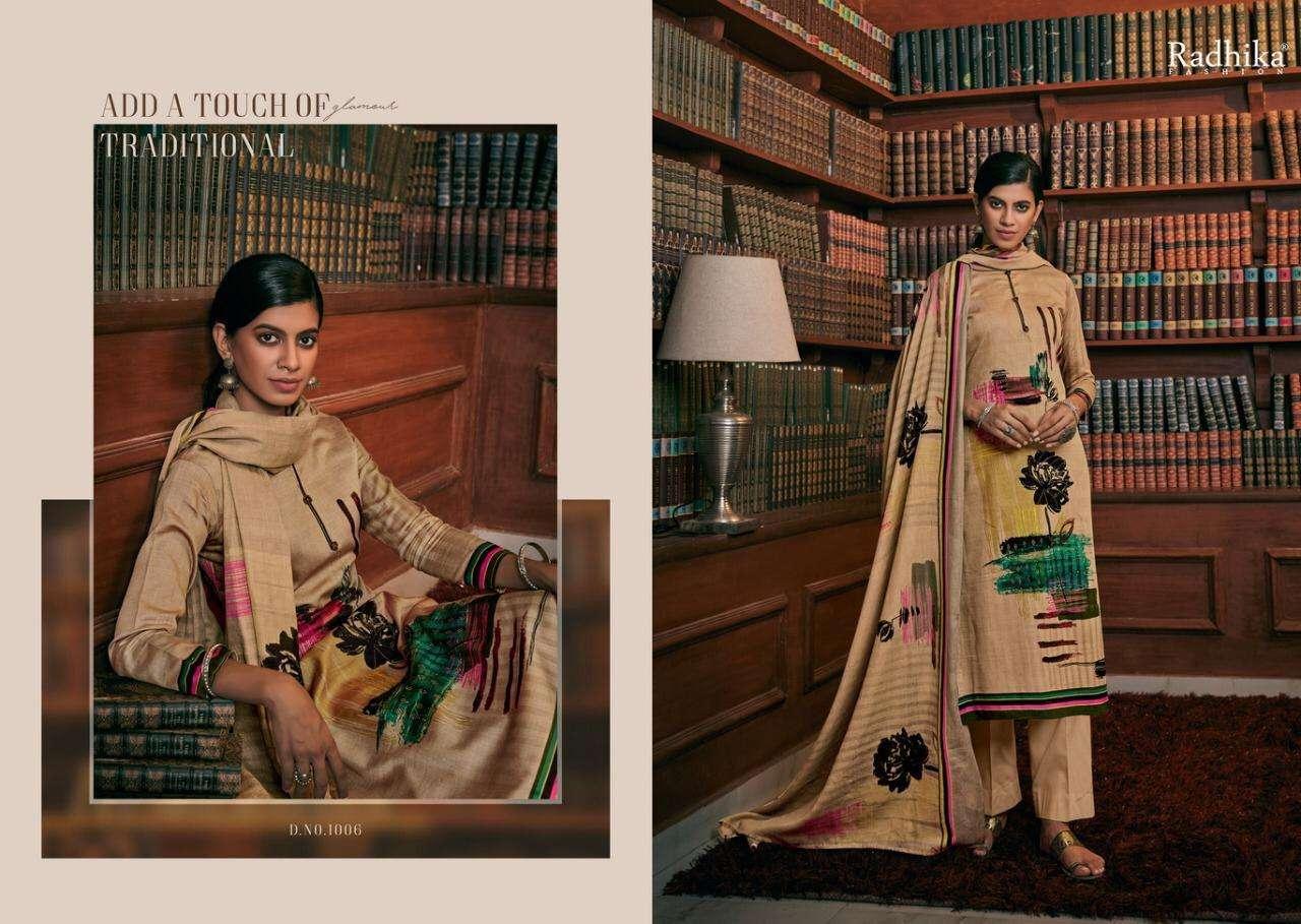 Radhika Irina Series 1001-1008 Jam Cotton Dress Materials