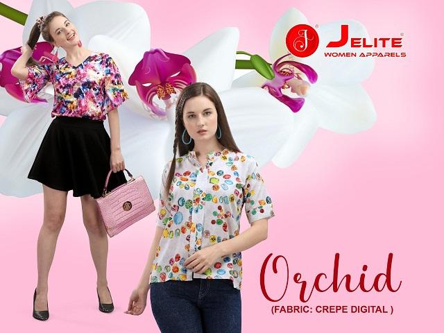 Je Orchid Series 501-508 Poly Crepe Digital Printed Top