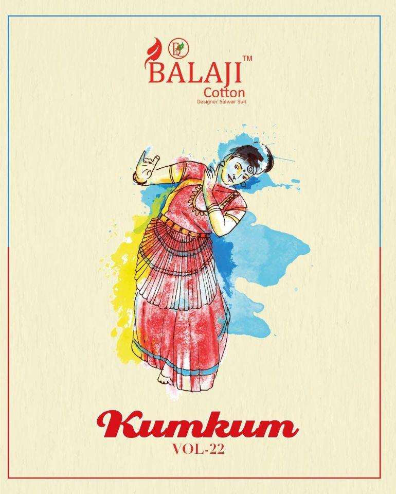 Balaji Cotton Kumkum Vol-22 Series 3631-3650 Pure Cotton Suit