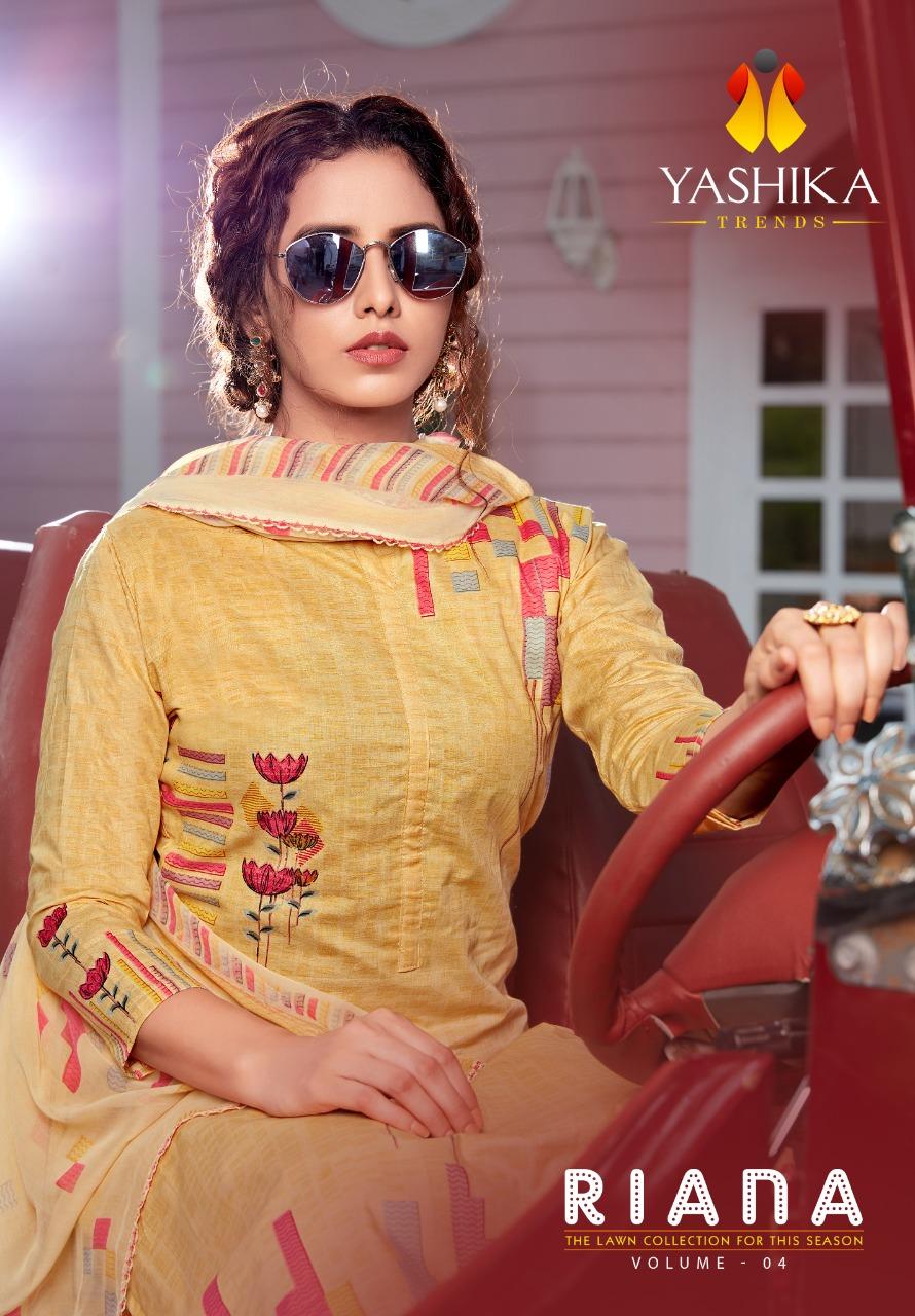 Yashika Riana Vol-4 Series 4001-4010 Pure Lawn Cotton Suit