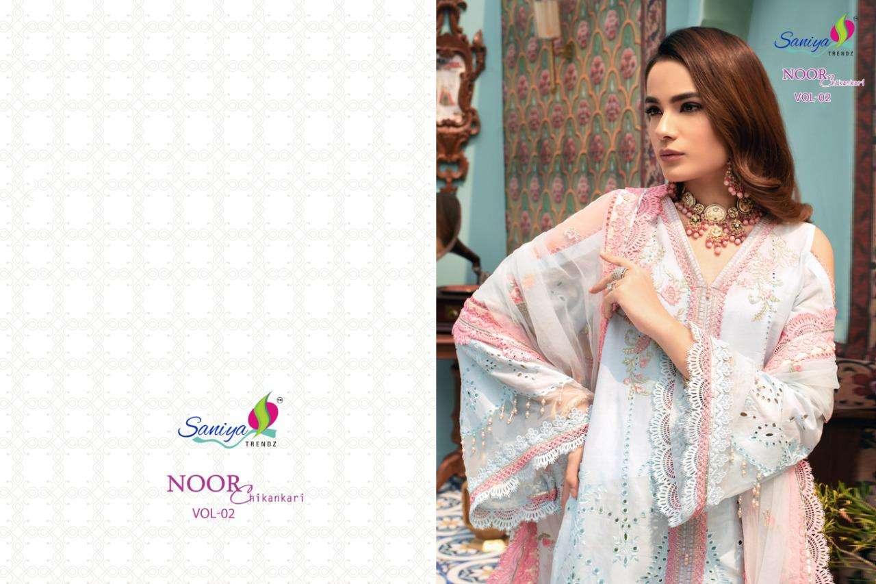 Saniya Trendz Noor Chikankari Vol-2 Series 54005-54007 Pakistani Suit