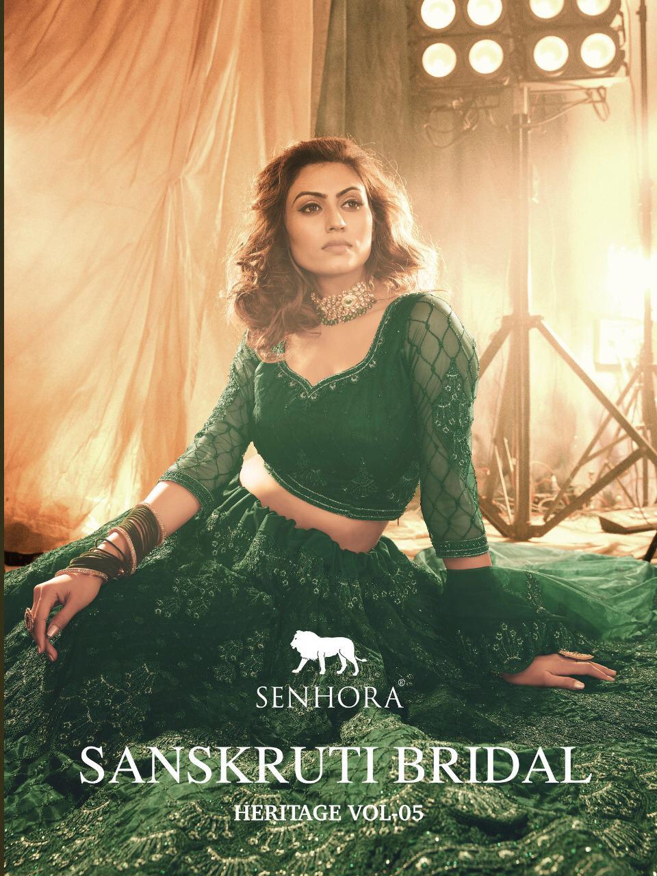 Senhora Dresses Sanskruti Bridal Heritage Vol-5 Designer Net Lehenga