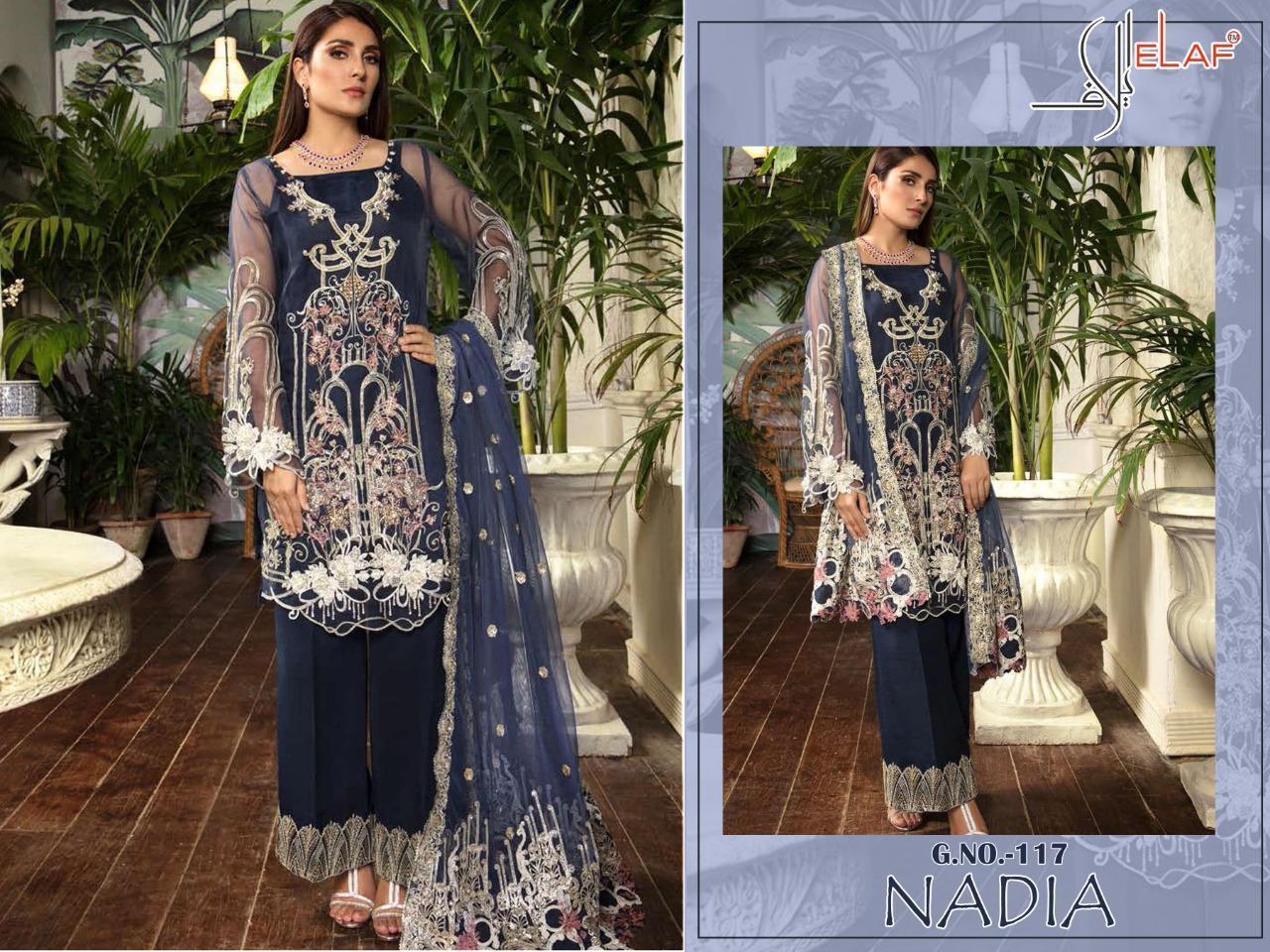 Elaf Nadia 117 Designer Butterfly Net Suit