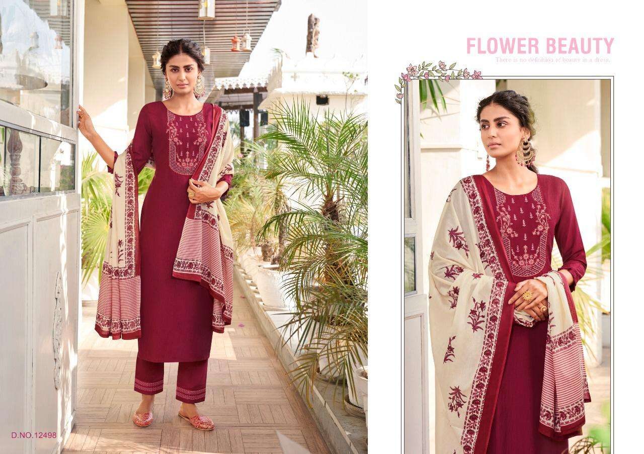 Kivi Purika Vol-3 Series 12495-12500 Silk Embroidery Readymade Suit