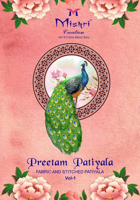 Mishri Pritam Patiyala Vol-1 Series 101-110 Pure Cotton Readymade Suit