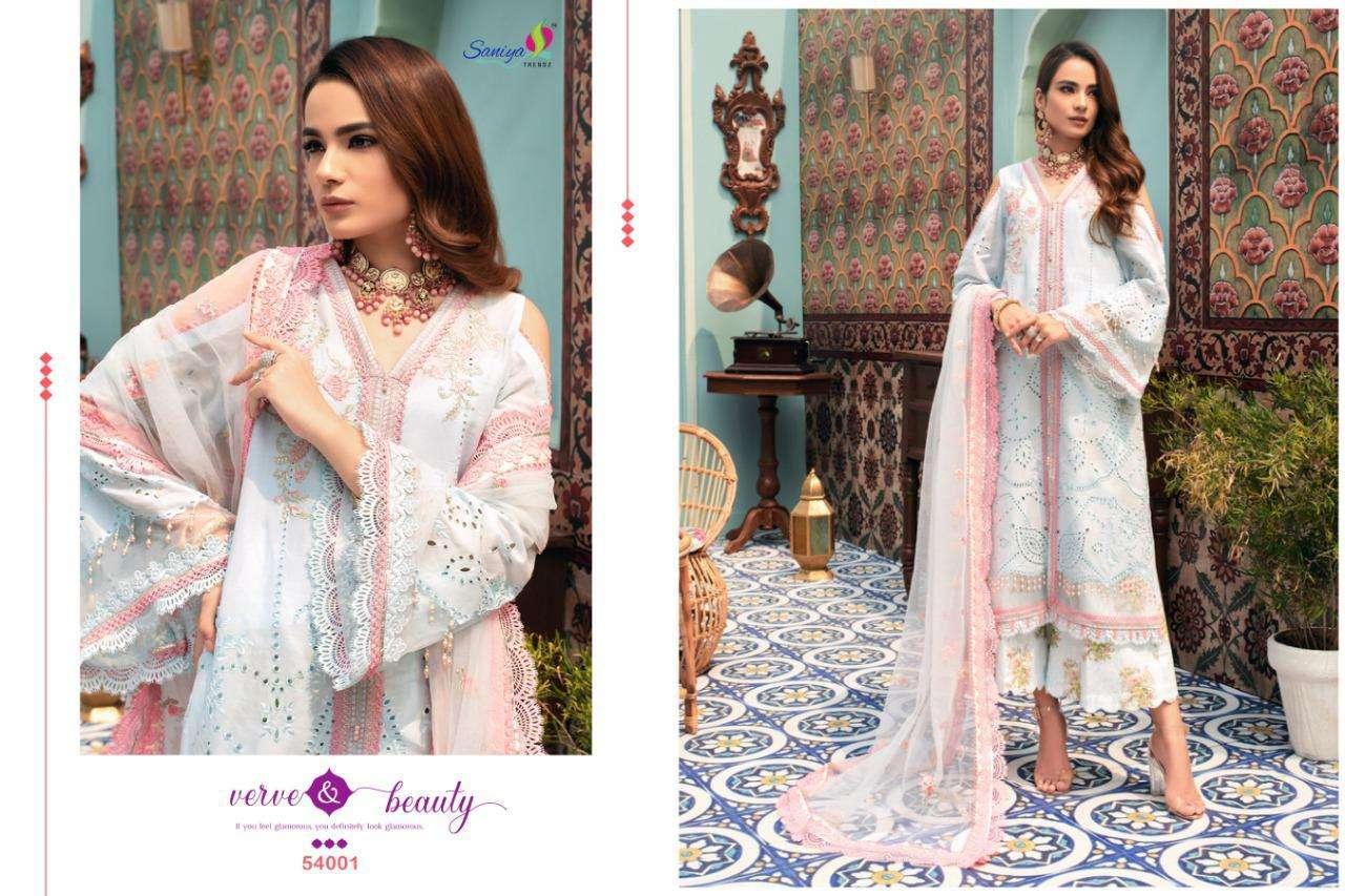 Saniya Noor Chikankari Series 54001-54005 Cotton Pakistani Suit