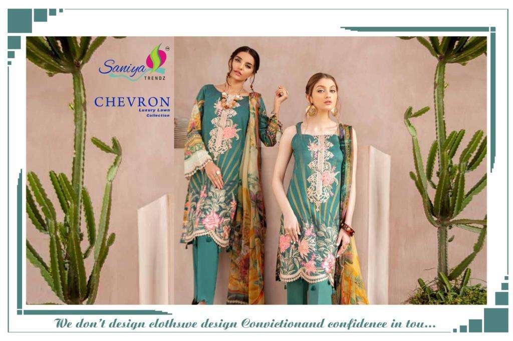 Saniya Trendz Chevron Series 29001-29003 Cotton Pakistani Dresses