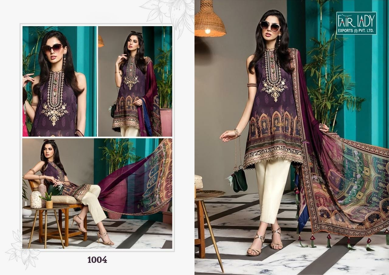 Fairlady Viva Anaya 1004 Designer Chiffon Suit
