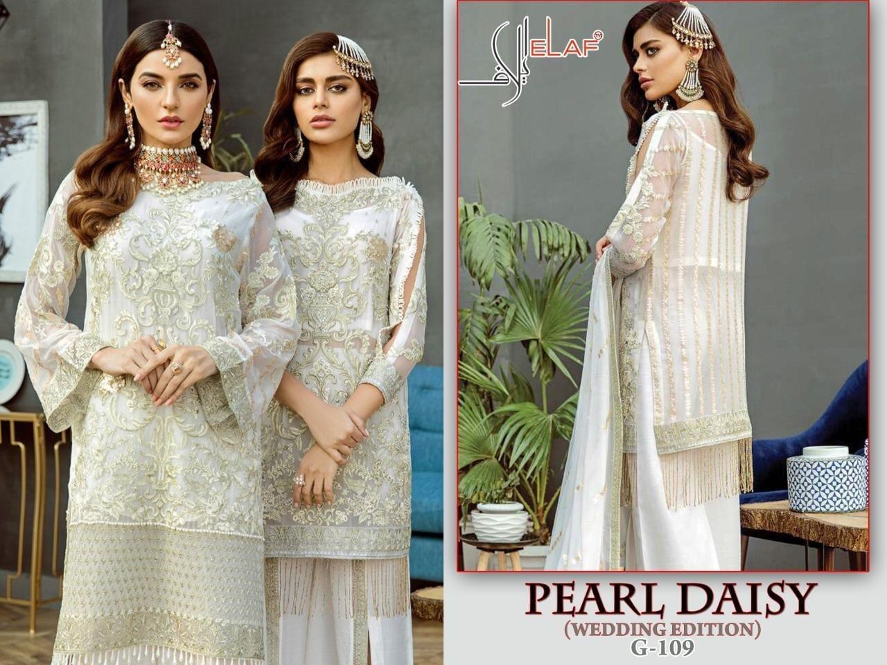 Elaf Pearl Daisy Designer Georgette Suit